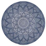 Main Rug Round Lunar  Blue