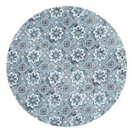 Rug Round Lunar 7 Blue