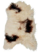 Rug Sheepskin Brown & White