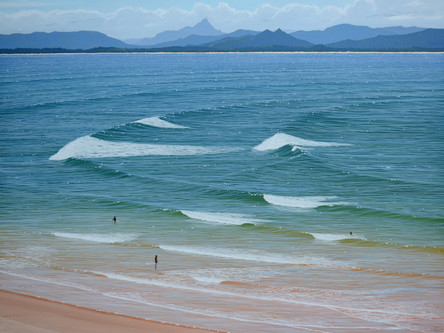 SOLD - Rolling Swell, Breaking Waves