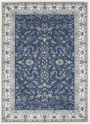 Rug Traditional Palace Blue & White
