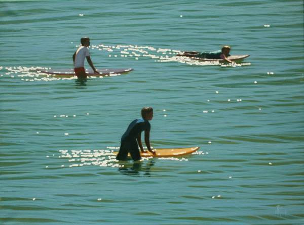 SOLD - 3 Surfers