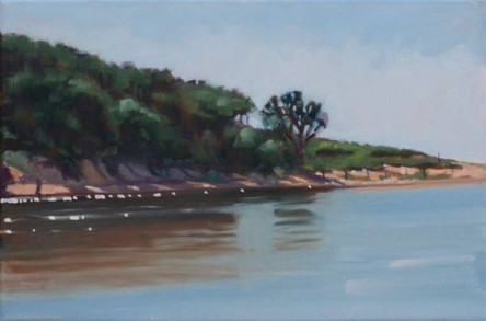 SOLD - Beachside Lagoon (Plein Air)