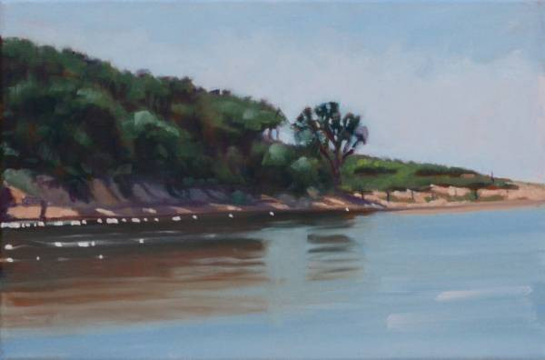 SOLD - Beachside Lagoon (Plein Air)