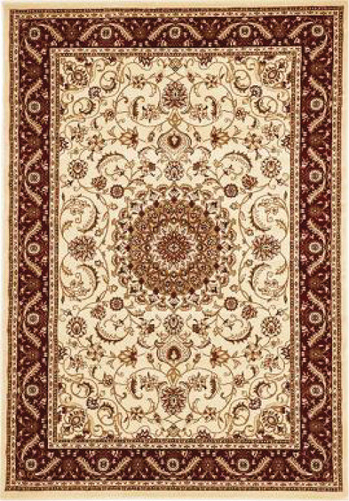Rug Traditional Sydney Ivory Red