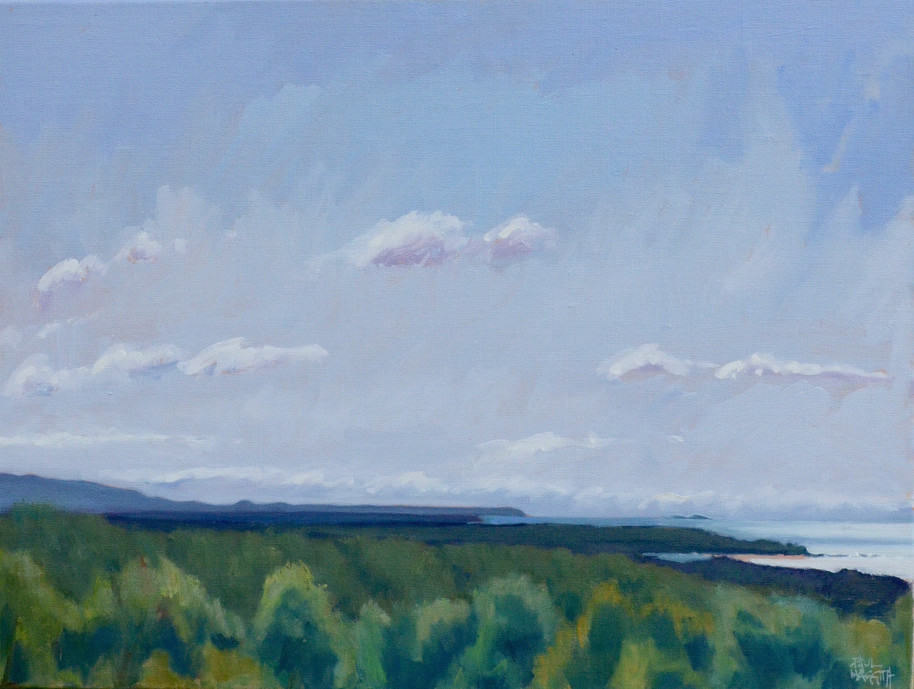 SOLD - Looking North to Bermagui (Plein Air)