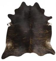 Rug Cowhide Dark Brin