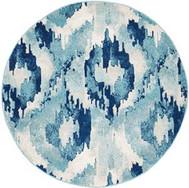 Rug Round Mirage Blue