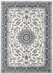 Rug Traditional Palace White & Blue