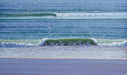 SOLD - Shorebreak and Wave No.1