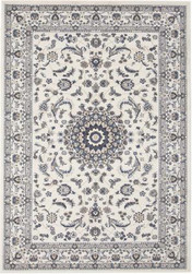Rug Traditional Palace White & White