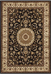 Rug Traditional Sydney Ivory Black