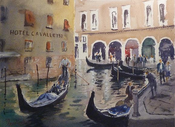 Gondolas Everywhere, Venice