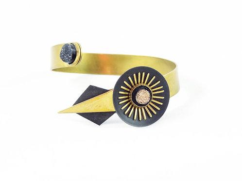 """Bracelet décalé Art Déco """"Dahlia"""""""