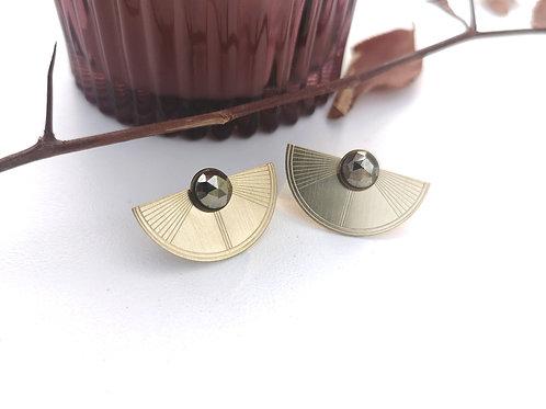 """Boucles d'oreilles modulables """"demi-lune"""" petite DAHLIA"""