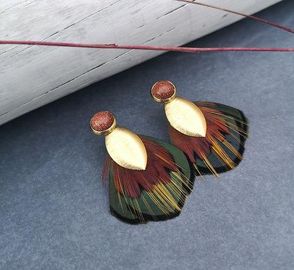 Boucles d'oreille _feuilles d'automne_ A