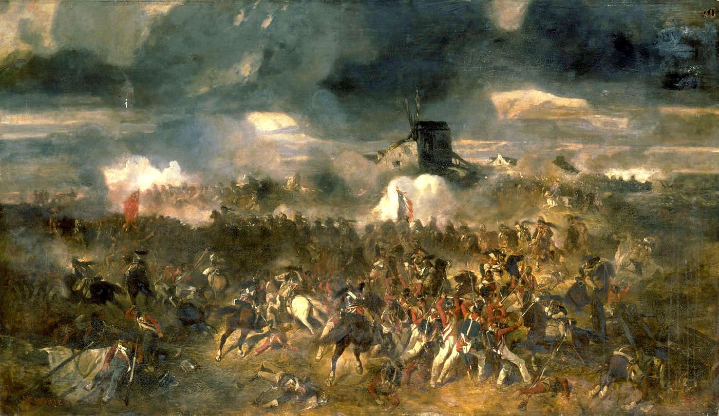 La Bataille de Waterloo. 18 juin 1815, par Clément-Auguste Andrieux, 1852