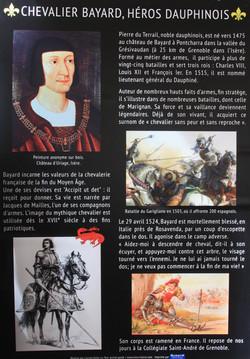 Panneaux sur le chevalier Bayard