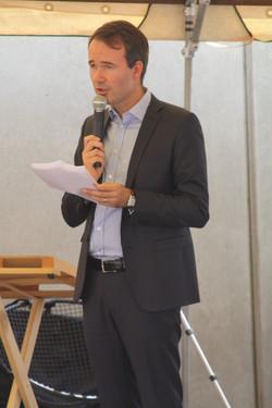 Fabien Rajon, maire de La Tour
