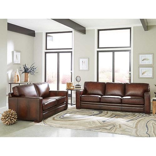 Luca 2 pc Top Grain Leather Sofa Set