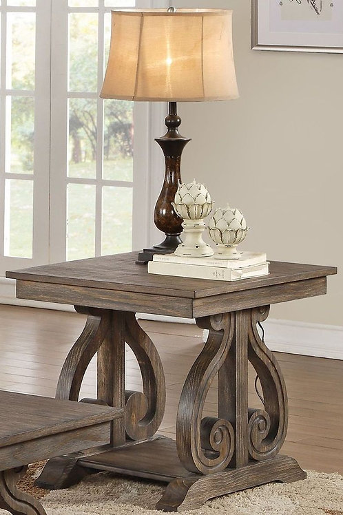 Toulon Collection Rustic End Table by Homelegance