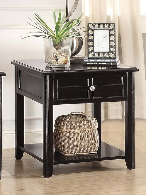 Carrier Collection End Table with Functional Drawer by Homelegance