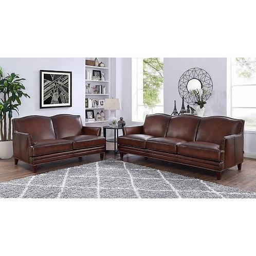 Caterina Top Grain Leather Sofa Set