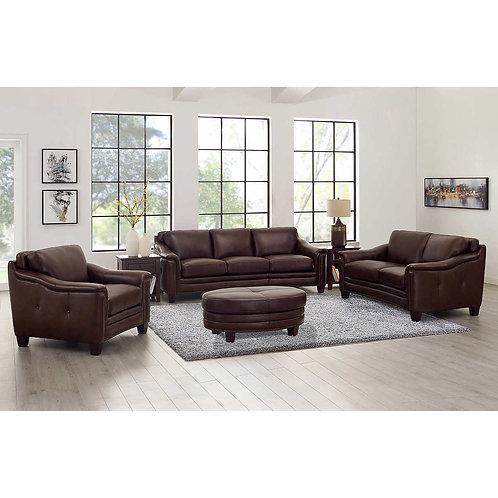 Billingham 4 pc Top Grain Leather Sofa Set
