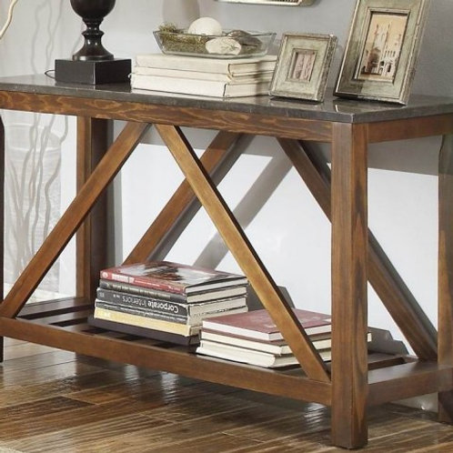 Ashby Collection Sofa Table w/ Bluestone Marble Top by Homelegance