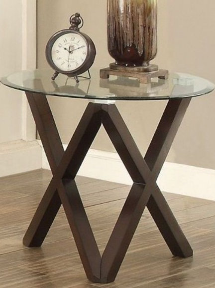 Halston Collection End Table by Homelegance