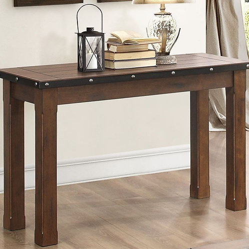 Schleiger Collection Burnished Brown Sofa Table by Homele