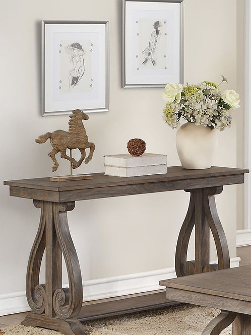 Toulon Collection Rustic Sofa Table by Homelegance