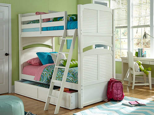 Neopolitan Collection: Twin over Twin 5 pc Bunk Bed Set