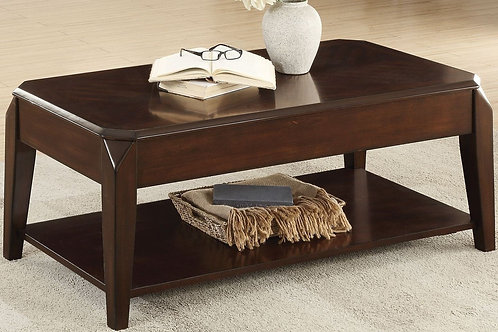 Sikeston Collection Cocktail Table with Casters by Homelegance