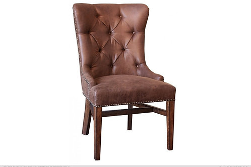 Terra Upholstered Chair w/Tufted Back, Nailheads