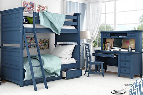 Williamsburg Blue Full over Full Bunk Bed Set