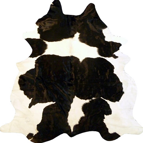 Black and White Holstein Brazilian 6' x 6' Cowhide