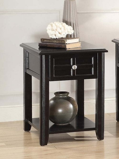 Carrier Collection Chairside Table with Functional Drawer by Homelegance