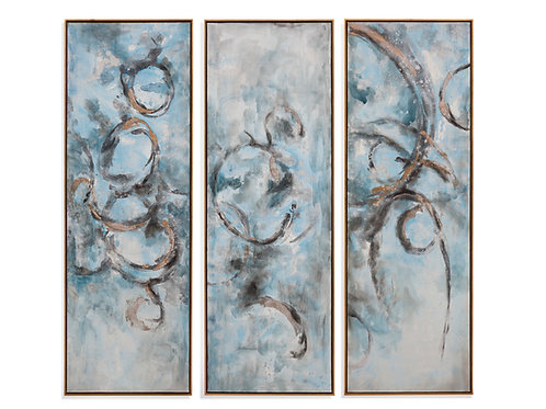 Oceanic Trip-Tych Wall Art (Set of 3)