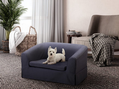 Molly Grey Linen Pet Bed