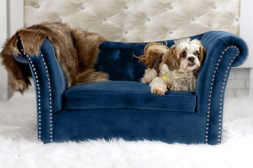 Dachshund Navy Pet Bed