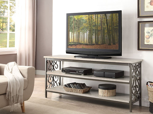 """Fairhope Collection 62"""" Sofa Table/TV Stand with Faux Marble Top by Homelegance"""