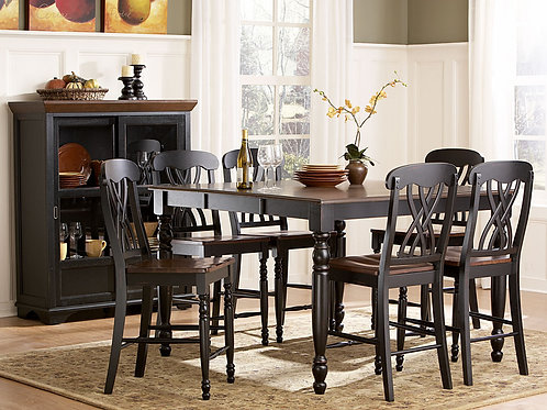 Ohana Collection 7 Piece Extendable Counter Height Table Set by Homelegance