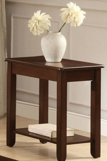 Ballwin Collection Chairside Table with Functional Drawer by Homelegance