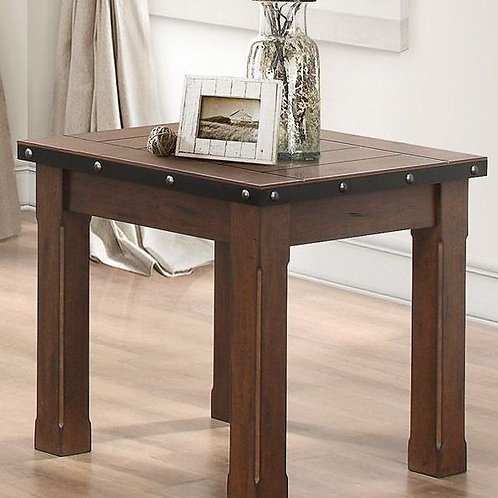 Schleiger Collection Burnished Brown End Table by Homele