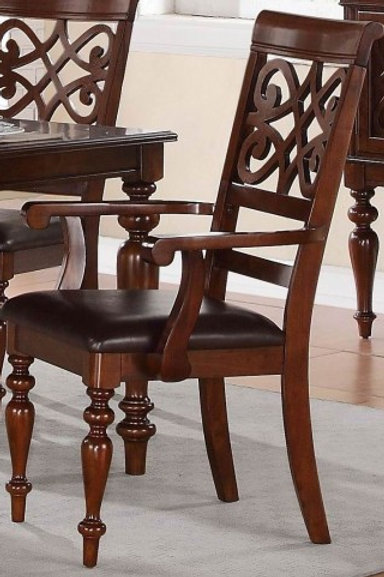 Creswell Collection Arm Chair Set of 2 by Homelegance