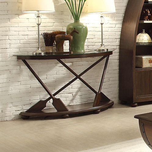 Hatchett Lake Collection Sofa Table with Glass Top by Homelegance