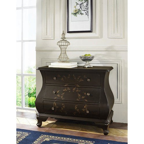 Black Hand Painted Bombay Chest by Pulaski