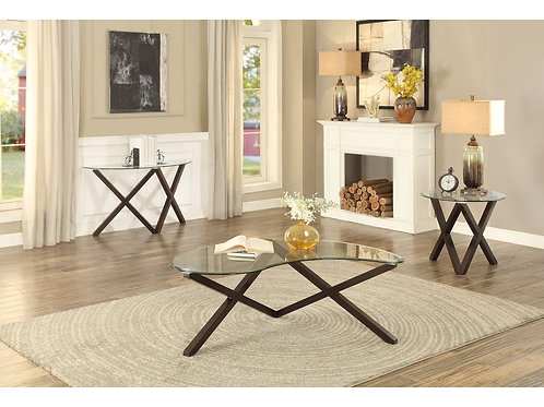 Halston Collection Table Set (w/ two End Tables) by Homelegance