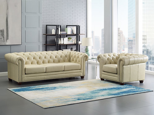 Kennedy 2 pc Top Grain Leather Sofa and Chair